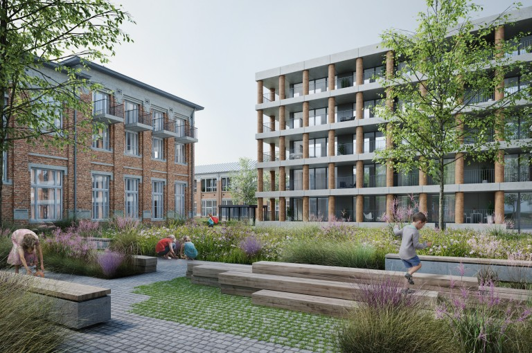 Vanhaerents, META, BOB361, Callebaut and OKRA win the competition for the re-purposing of the Normaalschool site in Lier