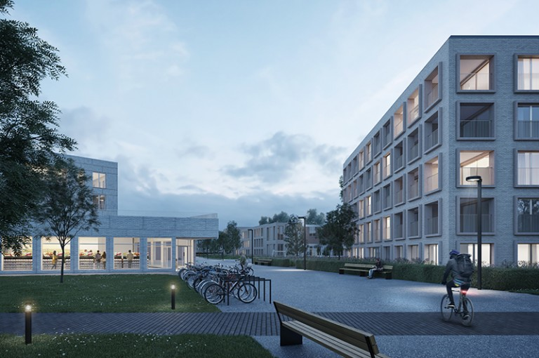 META and MikeViktorViktor win the competition for a green core in-fill area in Oude God Mortsel